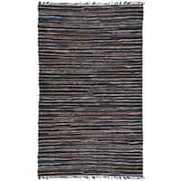 """Hand Woven Matador Brown Stripe Rug (30 x 50) - 30"""" x 50"""""""