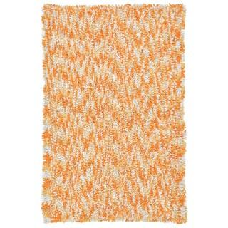 Shagadelic Orange Chenille Twist Swirl Rug (30x50)