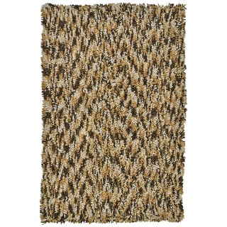 Shagadelic Brown Chenille Twist Swirl (30x50)