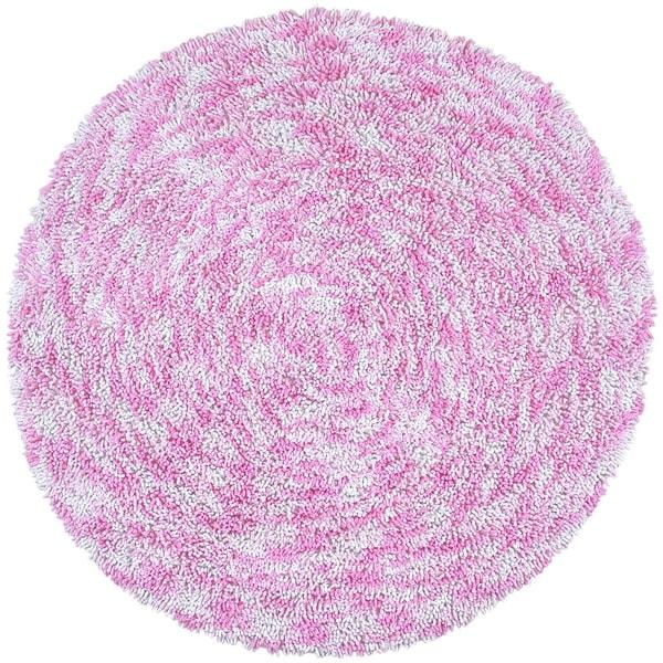 Pink Chenille Rug: Shop Shagadelic Pink Chenille Twist Swirl Round Rug