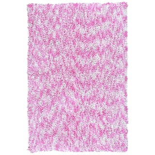 Shagadelic Pink Chenille Twist Swirl Rug (4' x 6')