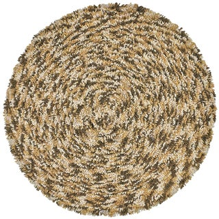 Brown Shagadelic Chenille Twist Swirl Rug (3' Round)