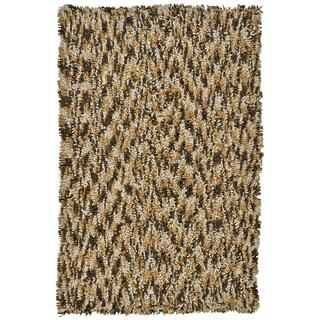 Brown Shagadelic Chenille Twist Swirl Rug (4' x 6')