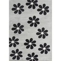 Alliyah Handmade Ash Grey New Zealand Blend Wool Rug - 8' x 10'