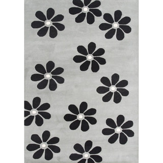 Alliyah Handmade Ash Grey New Zealand Blend Wool Rug (5' x 8')