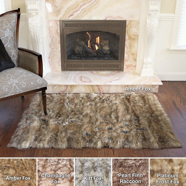 Aurora Home Wild Mannered Luxury Long Faux Fur Rug (3u0026#39;4 x 4u0026#39;10) - Free Shipping Today ...
