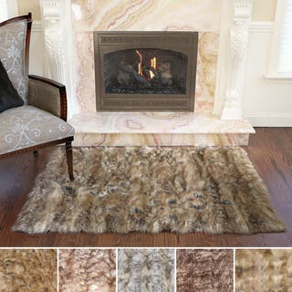 Aurora Home Wild Mannered Luxury Long Faux Fur Rug 3 4 X