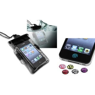 INSTEN Waterproof Phone Case Cover/ HOME Button Sticker for Apple iPhone 4/ 4S