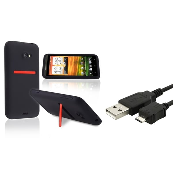 INSTEN Phone Case Cover/ USB Cable for HTC EVO 4G LTE