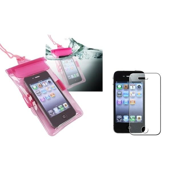 INSTEN Waterproof Bag/ Diamond LCD Protector for Apple iPhone 4/ 4S