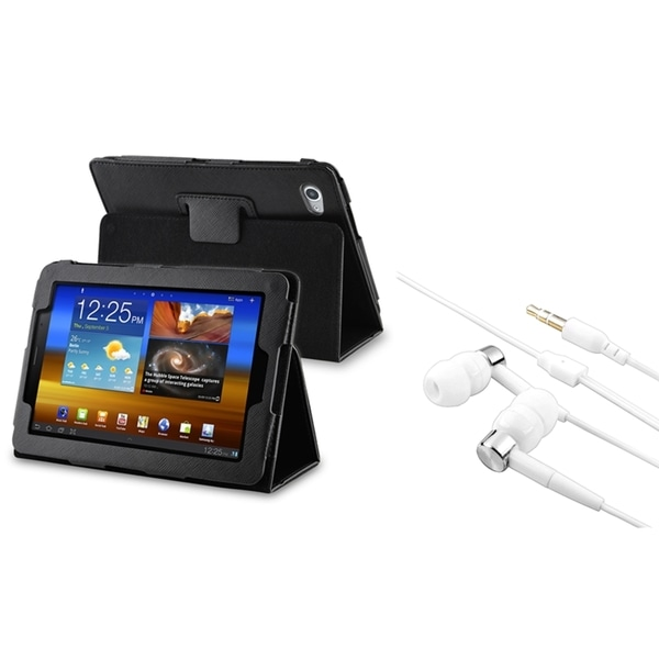 BasAcc Leather Case/ Headset for Samsung Galaxy Tab 7.7 P6800/ P6810