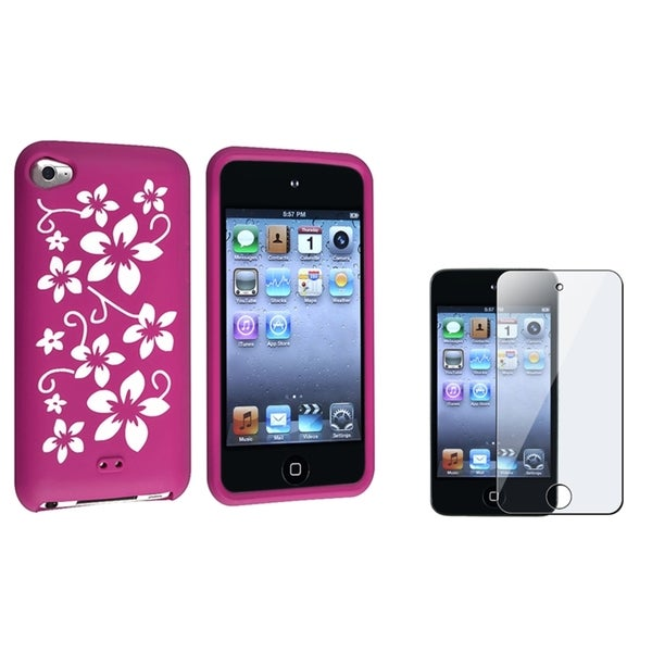 BasAcc Silicone Case/ LCD Protector for Apple iPod Touch Generation 4
