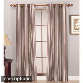Lightweight Canvas Stripe Curtain Panel Pair