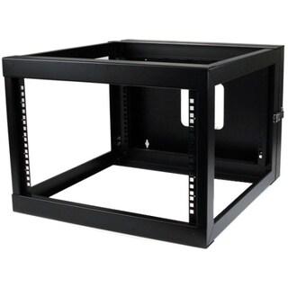 6U 22in Depth Hinged Open Frame Wall Mount Server Rack