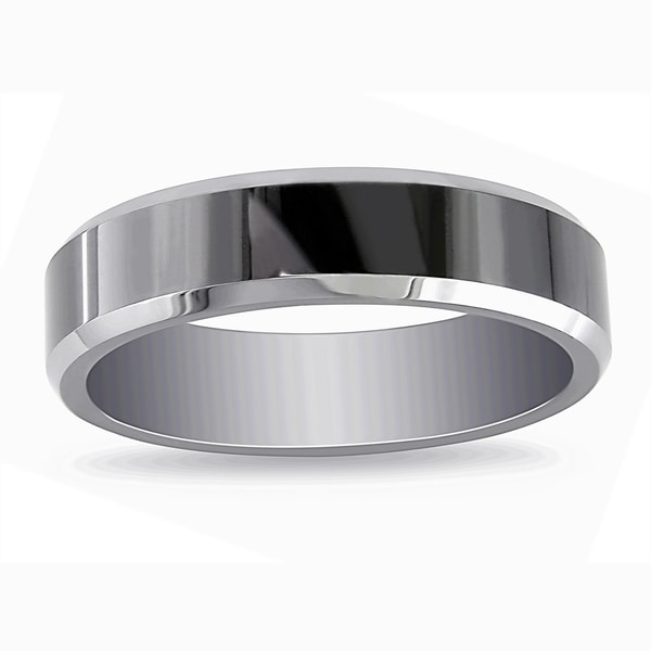 Miadora Tungsten Black Ion-plated Men's Ring