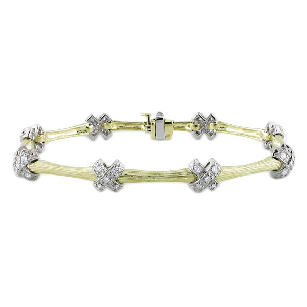 Miadora Signature CollectionMiadora 14k Two-tone Gold 3/4ct TDW Diamond Bracelet