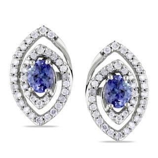 Miadora 10k Gold Tanzanite and 3/8ct TDW Diamond Earrings (G-H, I1-I2)|https://ak1.ostkcdn.com/images/products/7546590/7546590/Miadora-10k-Gold-Tanzanite-and-3-8ct-TDW-Diamond-Earrings-G-H-I1-I2-P14980485.jpeg?impolicy=medium