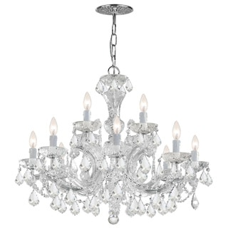 Crystorama Maria Theresa 12-light Polished Chrome Chandelier