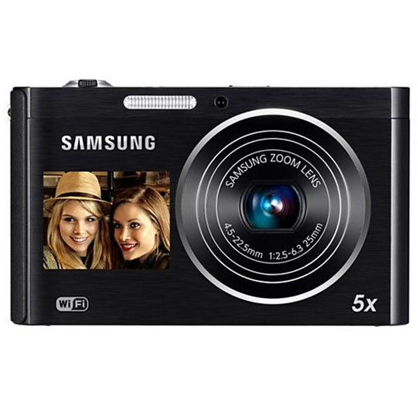 Samsung DualView DV300F 16.1MP Red/Silver Digital Camera