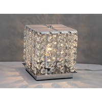 Cynthia Crystal 2-light Chrome Table Lamp