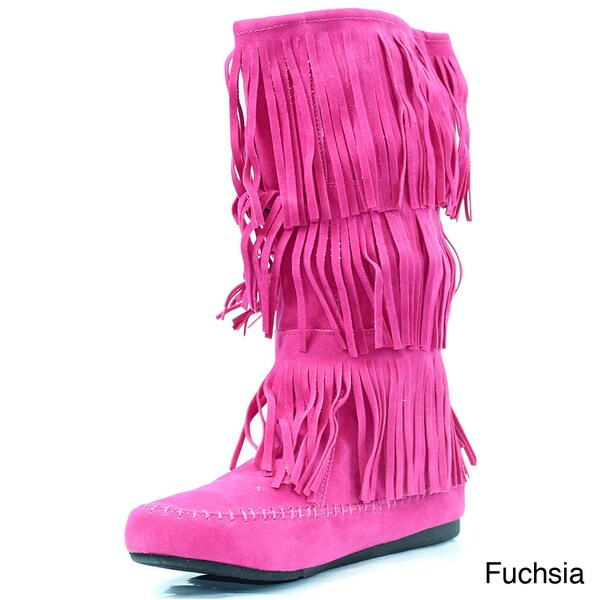 Stanzino Women's Fringed Moccassin Boots
