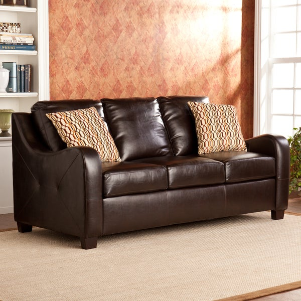Upton Home Claymore Chocolate Stationary Sofa