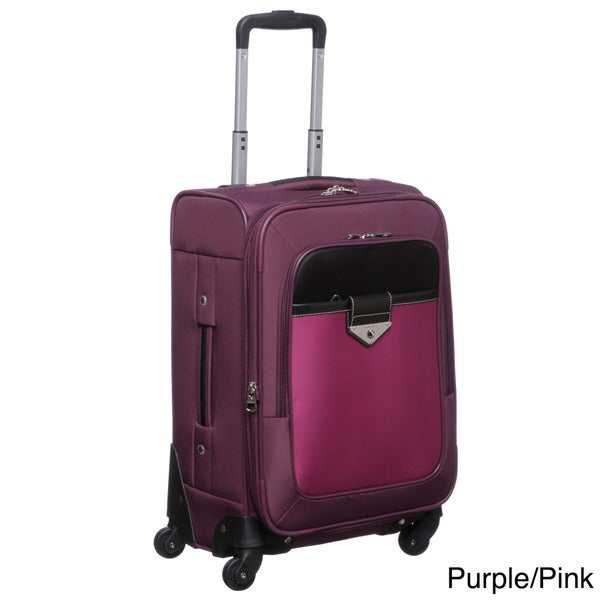 Nine West Colorblock 20-inch Carry On Spinner Upright