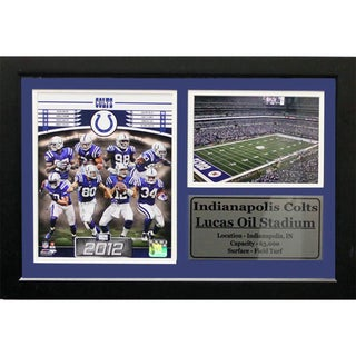 2012 Indianapolis Colts Lucas Oil Stadium Photo/Stat Frame (12 x 18)