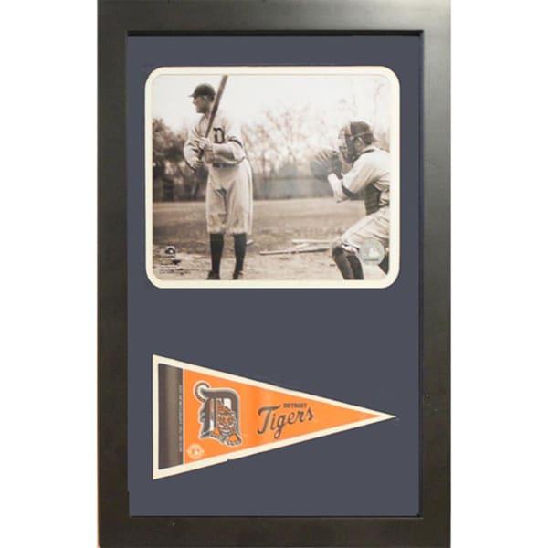 Detroit Tigers Ty Cobb Pennant Custom Frame (12 x 18 )