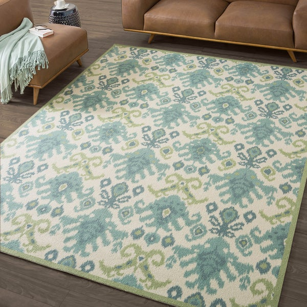 Nourison Vista Ikat Ivory Rug - Various Size Options