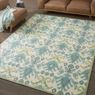Nourison Vista Ikat Ivory Rug (Various Size Options) (Option: 5u0027 X