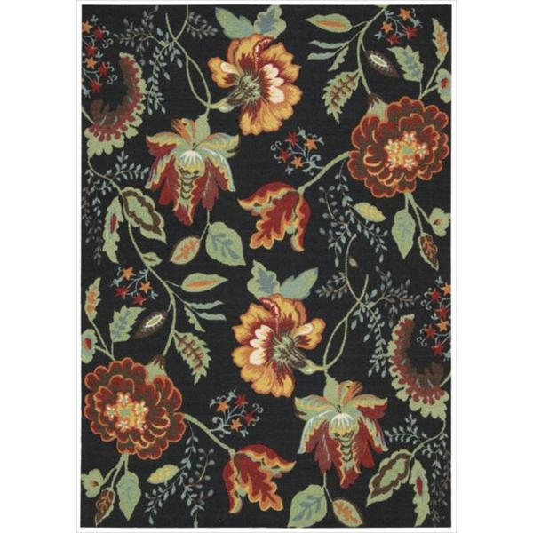 Shop Nourison Vista Floral Black Rug Free Shipping Today