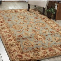 Nourison Hand-tufted Jaipur Light Blue Rug