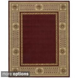 Nourison Vallencierre Burgundy Wool Rug