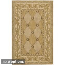 Nourison Vallencierre Gold Wool Rug