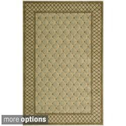 Nourison Vallencierre Ligh Green Wool Rug