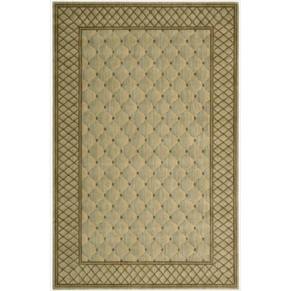 Nourison Vallencierre Ligh Green Wool Rug