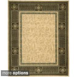 Nourison Vallencierre Beige Interior Wool Rug