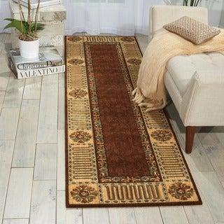 Nourison Vallencierre Brown Wool Rug (Option: Octagon)