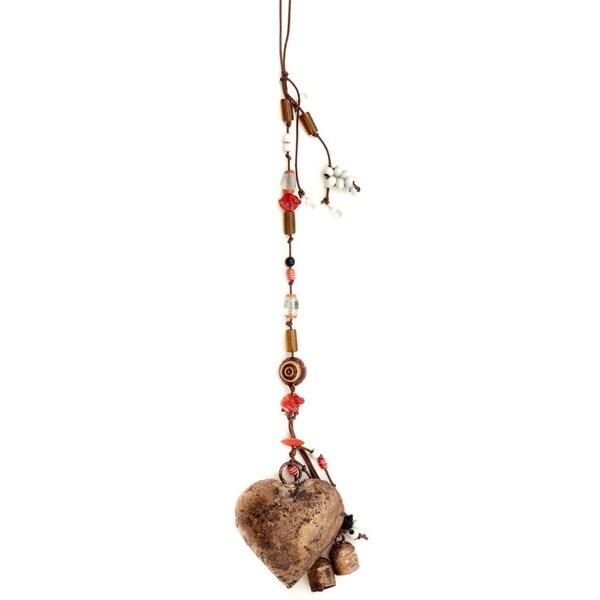 Handmade Kutch Heart Wind Chime (India)