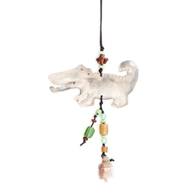 Handmade Later Gator Wind Chime (India)