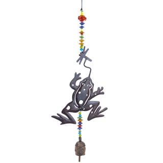 Handmade Playful Frog Wind Chime (India)