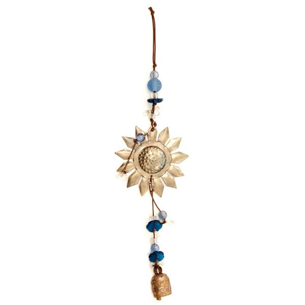 Handmade Sunflower Wind Chime (India)