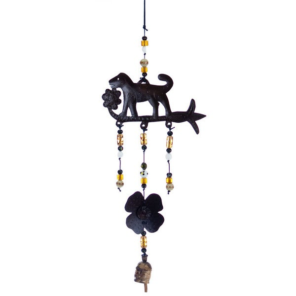 Handmade Stop & Smell the Flowers Wind Chime (India)