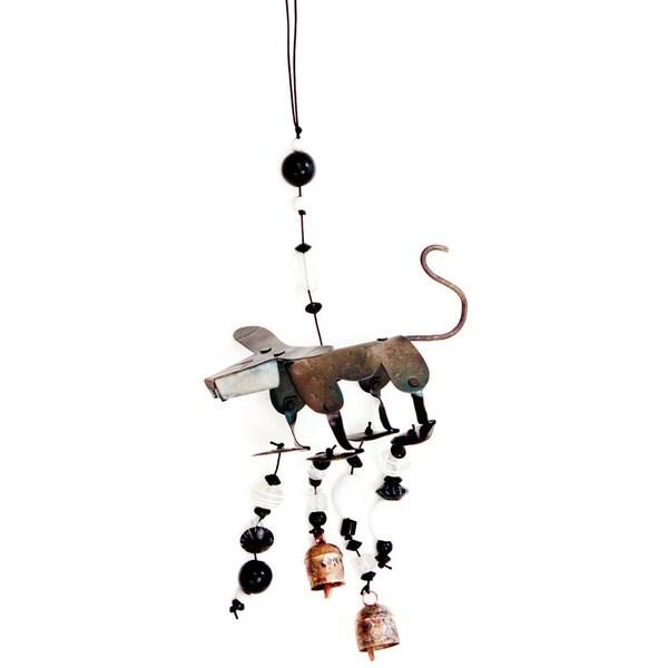 Handmade Woof, Woof, Woof 3-D Wind Chime (India)