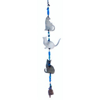 Handmade Shadow Cats Wind Chime (India)