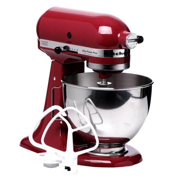 Shop KitchenAid KSM100PSER Empire Red 4.5-quart UltraPower Plus ...