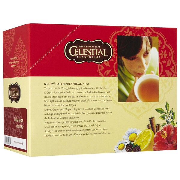 Celestial Seasonings India Spice Chai Tea K-Cups for Keurig Brewers (Case of 96)