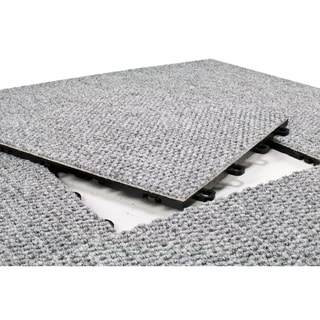 BlockTile 12x12-inch Interlocking Premium Gray Carpet Tiles (20-tile Pack)