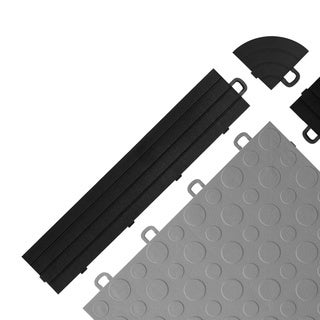 BlockTile UV-resistant Interlocking Ramp Edges without Loops - (12 Edges/2 Corner pack)